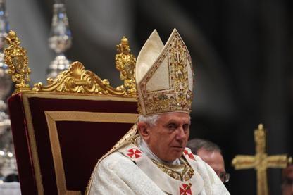 Le pape Benoît XVI... (Photo AFP)
