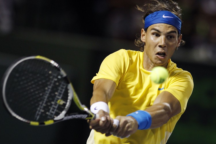 Rafael Nadal a battu Jo-Wilfried Tsonga en deux... (Photo: AFP)