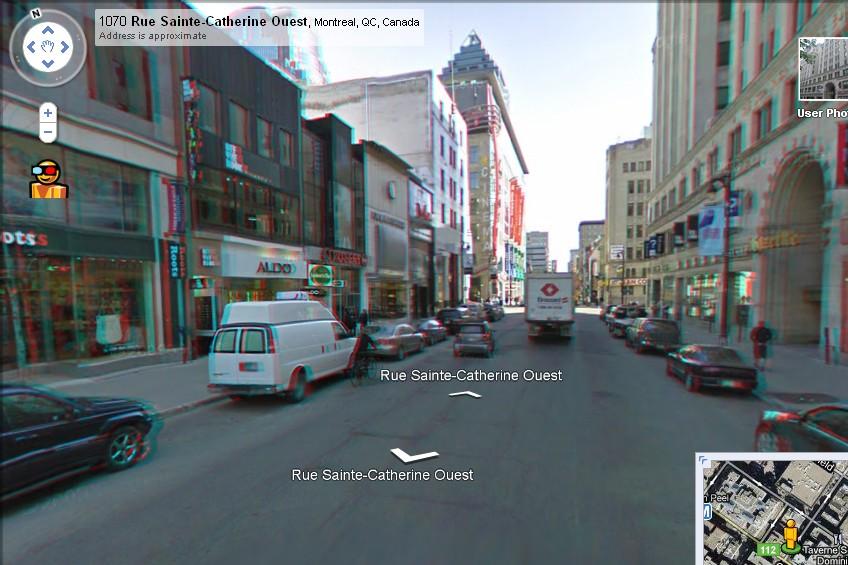 Poisson d'avril: Google Street View...en 3D!...