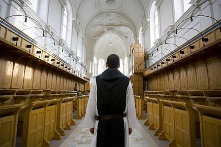 Les moines trappistes ont quitté l'abbaye d'Oka il... (Photo: André Tremblay, archives La Presse)