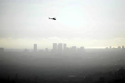 La ville de Los Angeles couverte de smog.... (Photo: archives AFP)