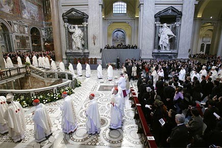 Le pape a célébré une messe marquant le... (Photo: Reuters)