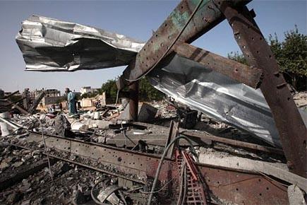 L'aviation israélienne a effectué six raids dans la... (Photo: Reuters)