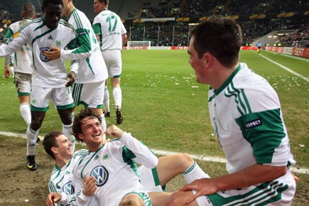Avec 43 points, Wolfsburg peut toujours décrocher sa... (Photo: Archives, AFP)