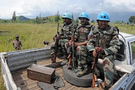 Des soldats de la MONUC.... (Photo: PASCAL GUYOT, Archives AFP)