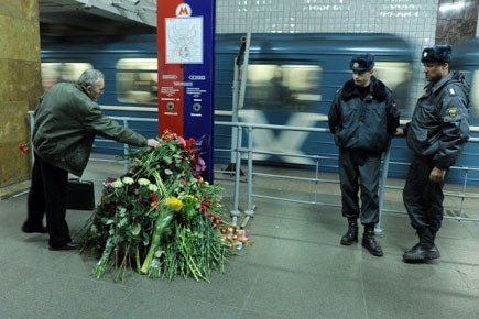 Les attentats du métro de Moscou ont fait... (Photo: NATALIA KOLESNIKOVA, AFP)