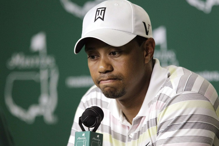 Tiger Woods a donné une conférence de presse... (Photo: Reuters)
