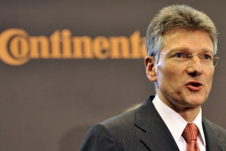 Elmar Degenhart, PDG de Continental AG.... (Photo Associated Press)