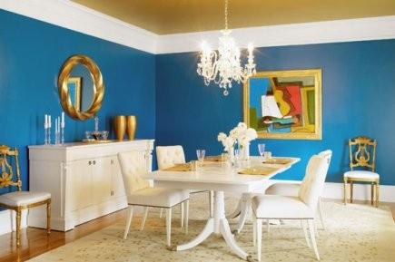 Le bleu français teinté de mauve est original... (Photo: fournie par Benjamin Moore)