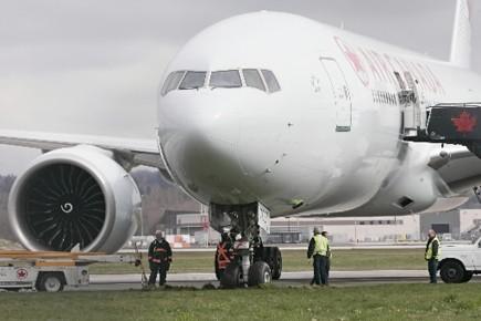 L'atterrissage d'un avion d'Air Canada à Vancouver le mois dernier... (Photo: PC)