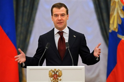 Le président russe Dmitri Medvedev... (Photo: AP)