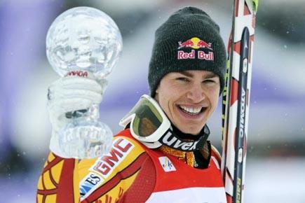 Le skieur québécois Erik Guay.... (Photo: THOMAS LOHNES, AFP)