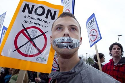 Des étudiants ont manifesté le 6 avril dernier... (Photo: Alain Roberge, La Presse)