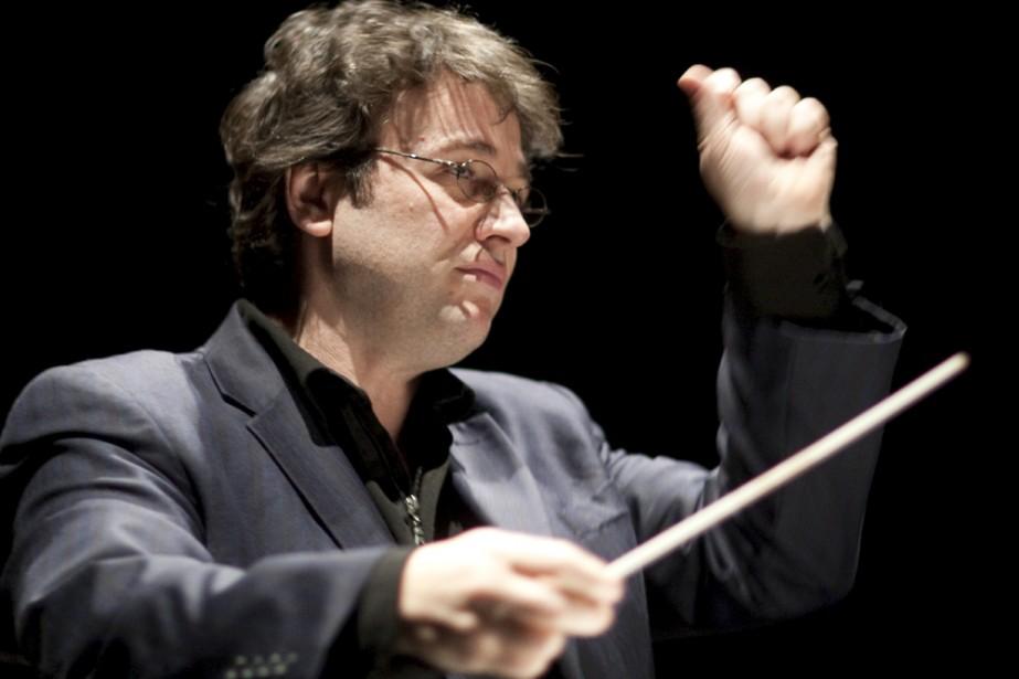 Alain Trudel dirigeait l'Orchestre de l'Université de Montréal... (Photo: André Pichette, archives La Presse)