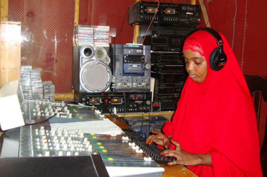 Les animateurs des radios de Mogadiscio, comme cette... (Photo: AP)