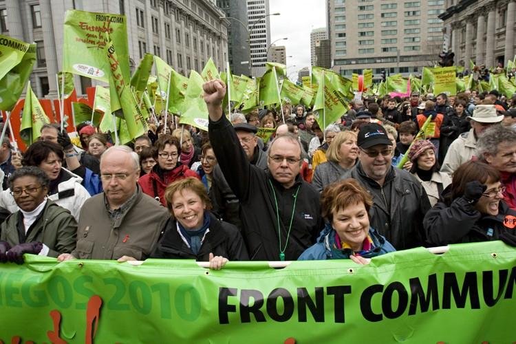 Une manifestation des employés des secteurs public et... (Photo: David Boily, La Presse)