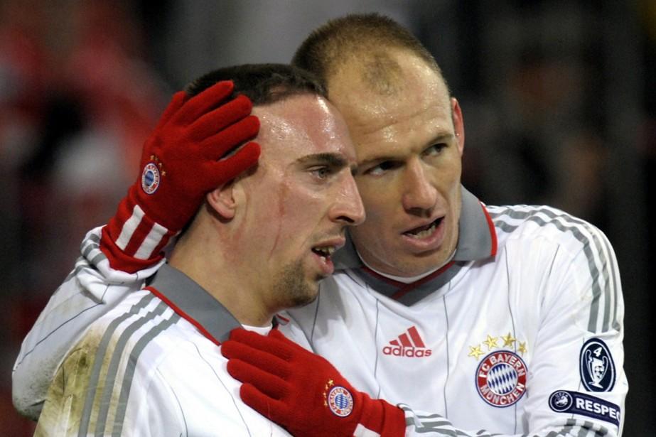 Arjen Robben et Franck Ribéry... (Photo: AFP)