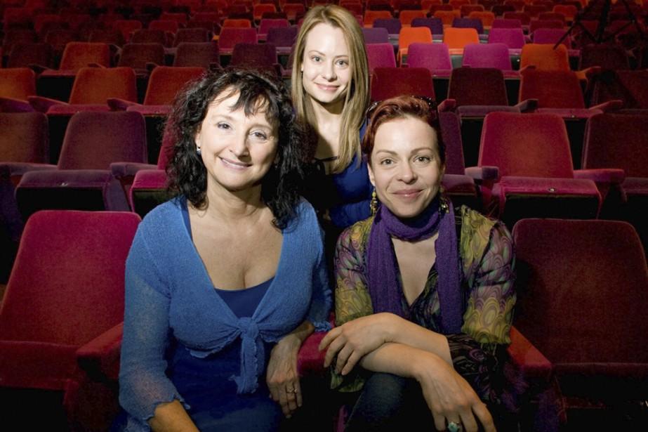 Pierrette Robitaille, Maude Guérin et Catherine-Anne Toupin (derrière)... (Photo: André Tremblay, La Presse)