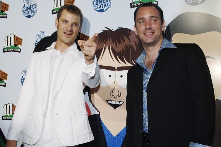 Les créateurs de la série d'animation South Park,... (Photo: AP)