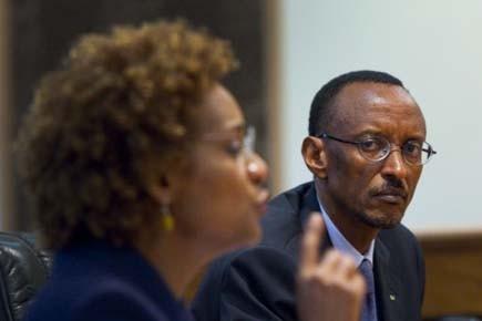 Le président du pays, Paul Kagamé, a exprimé... (Photo: Sean Kilpatrick, PC)