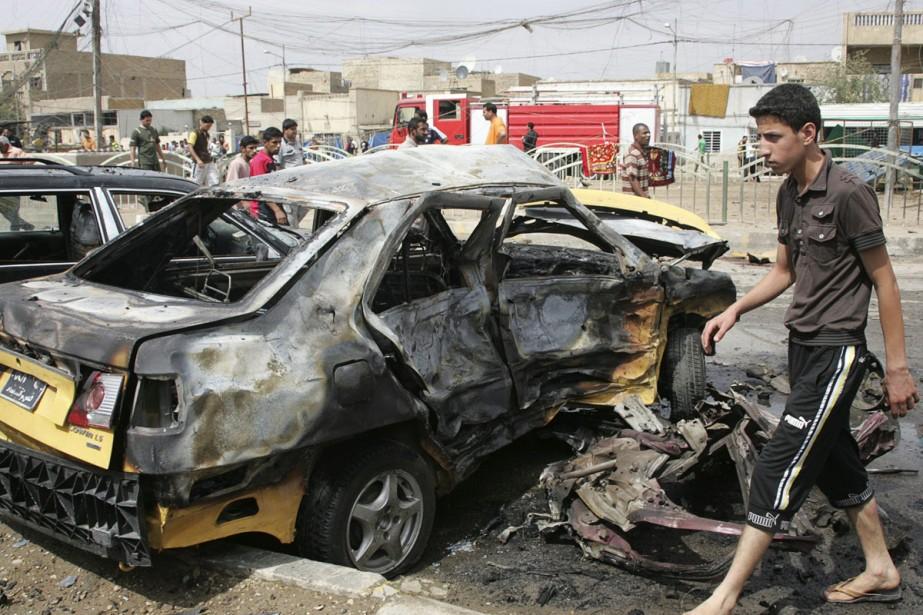 Désolation à Sadr après l'explosion d'une série de... (Photo: Reuters)