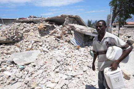 Le séisme qui a frappé Haïti le 12... (Photo: Thony BELIZAIRE, AFP)