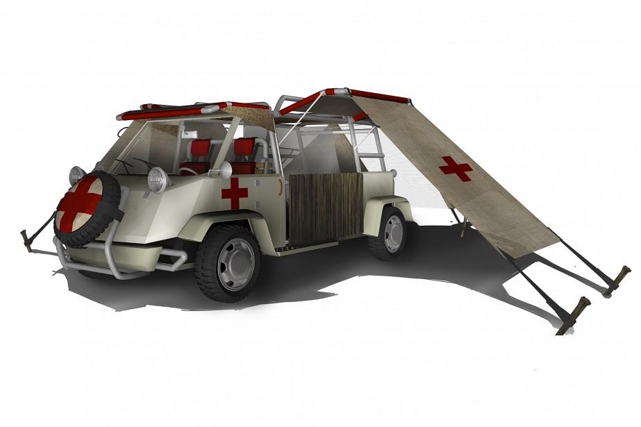 Une unité médicale mobile, pour offrir des soins...