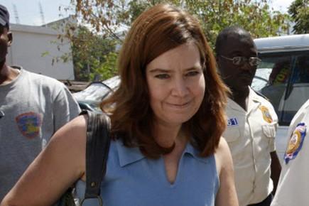 Laura Silsby, la responsable du groupe et seul... (Photo AP)