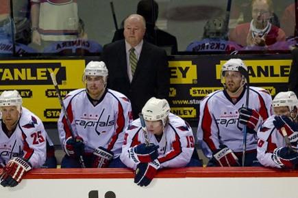 L'entraîneur Bruce Boudreau et les joueurs des Capitals... (Photo: André Pichette, La Presse)