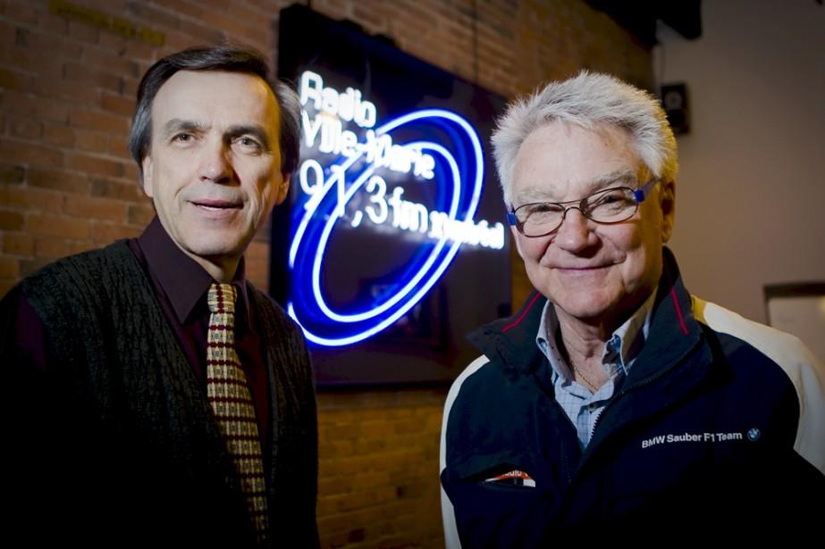 Le directeur de Radio Ville-Marie, Jean-Guy Roy, en... (Photo: André Pichette, La Presse)