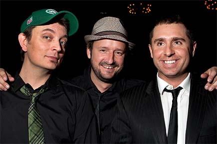 Rémi-Pierre Paquin (au centre) et ses deux acolytes... (Photo: Robert Skinner, La Presse)