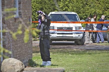 Le cadavre de la victime, une femme âgée... (Photo: Patrick Sanfaçon, archives La Presse)