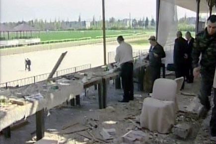 «Une explosion a retenti dans la loge VIP... (Photo: ap)