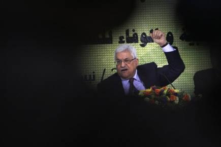 Le président de l'Autorité palestinienne Mahmoud Abbas, lors... (Photo reuters)