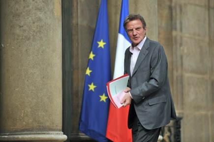 Le ministre des Affaires étrangères de la France,... (Photo AFP)