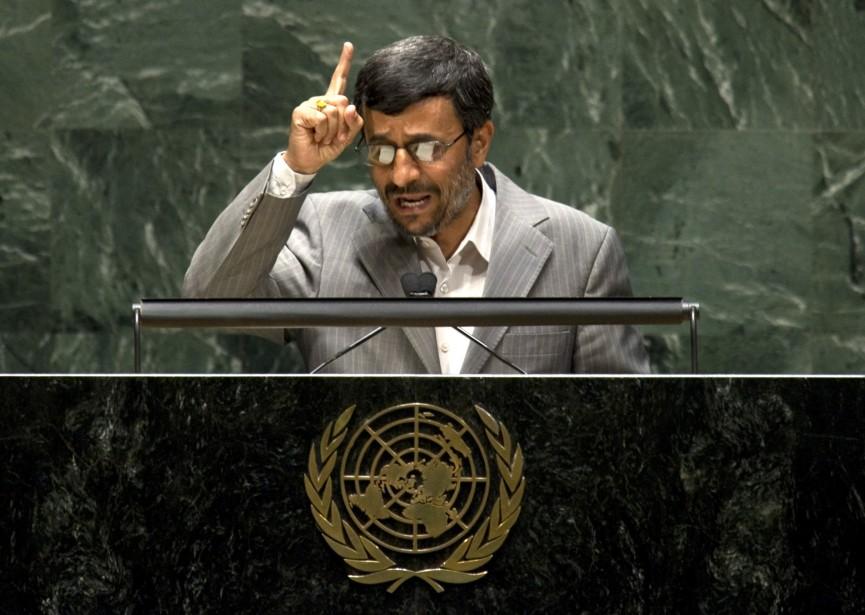 Le président iranien Mahmoud Ahmadinejad a pris la... (PHOTO: DON EMMERT, AFP)