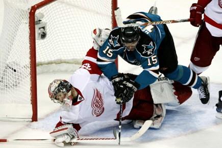 Les Sharks n'ont savouré la victoire qu'à cinq... (Photo: AP)