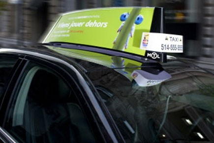 D'ici à vendredi, 375 taxis se promèneront dans... (Photo fournie par Taxicom)