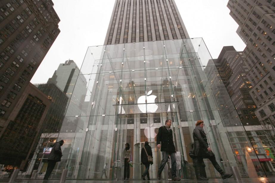 Un Apple Store à New York...