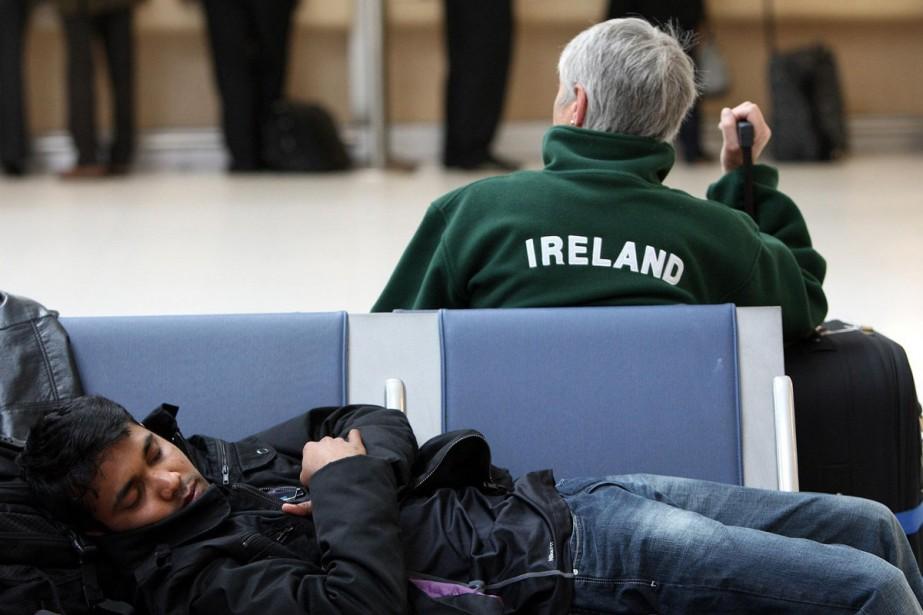 Un voyageur s'est endormi à l'aéroport de Dublin... (Photo: AP)