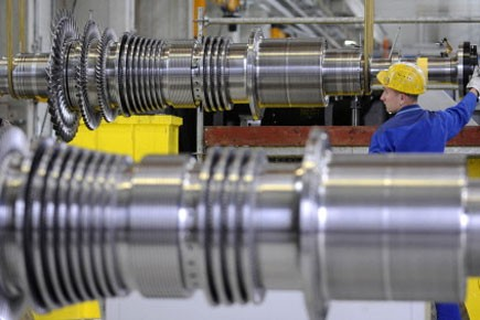 La production industrielle des Etats-Unis a nettement progressé... (Photo: AFP)