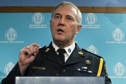 Le chef de la police de Toronto, William... (Photo: PC)