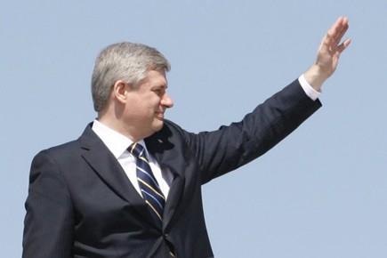 Le premier ministre Stephen Harper a quitté le pays mardi pour... (Photo: PC)