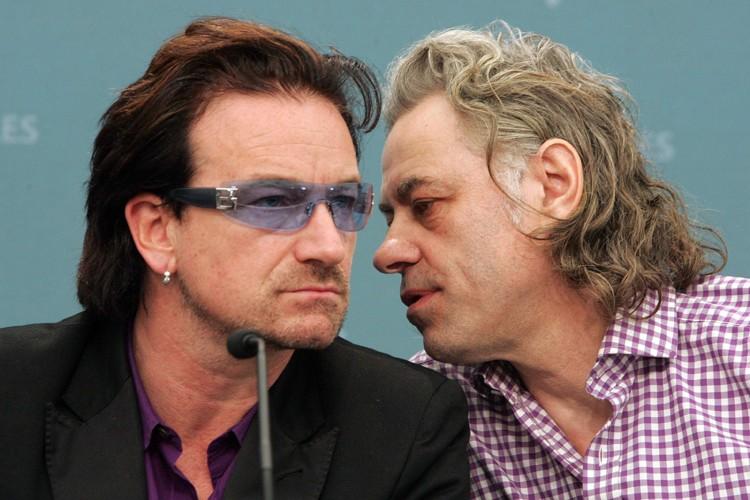 Bono et Bob Geldof... (Photo: AP)