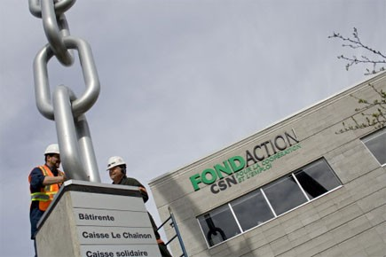 La structure de plus de 15 mètres de... (Photo: David Boily, La Presse)
