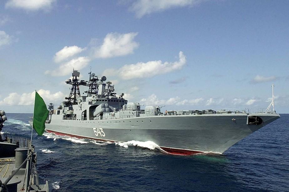 Ce navire de guerre russe a libéré dans... (Photo: archives AFP)