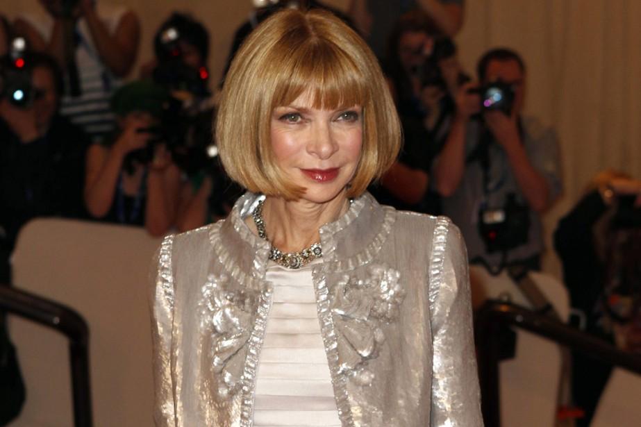 La rédactrice en chef du Vogue américain, Anna... (Photo: Reuters)