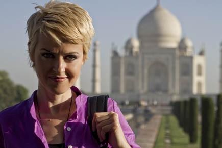 L'Inde et son Taj Mahal, Geneviève Borne en... (Photo fournie par Canal Évasion)