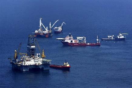 Un «couvercle» qui avait été placé sur une fuite de pétrole... (Photo: Reuters)