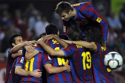 Le Barça, successivement champion virtuel puis à deux doigts de... (Photo: AFP)